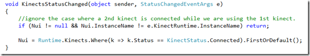 Kinect beta2 clean wpf code and getting started