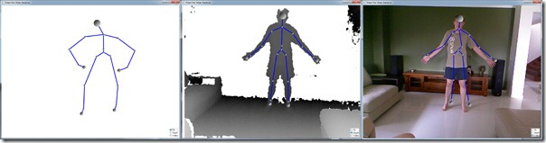 Aligning a Kinect Skeleton with the Video or Depth images