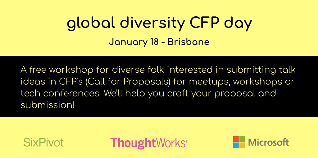 Global Diversity CFP Day Brisbane 2020
